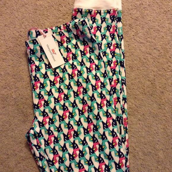 Vineyard Vines Women/'s Sleepwear Penguin Pattern Frost Lounge Legging Jogger